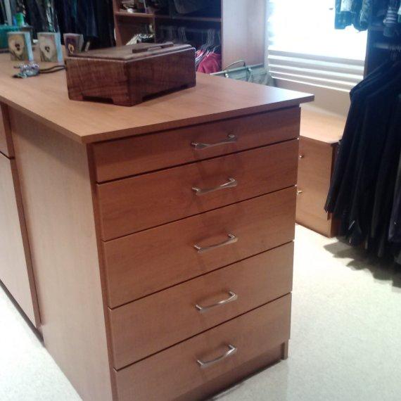 Custom Drawer Anandale Master Bedroom Closet - The Closet Company