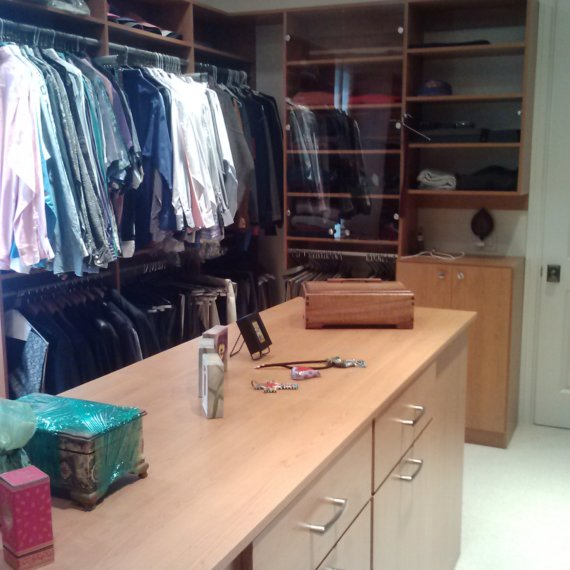 Custom Shelves Rods Drawers Anandale Master Bedroom Closet - The Closet Company