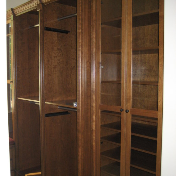 Framed Glass Doors Governors Club Walk In Closet - The Closet Company