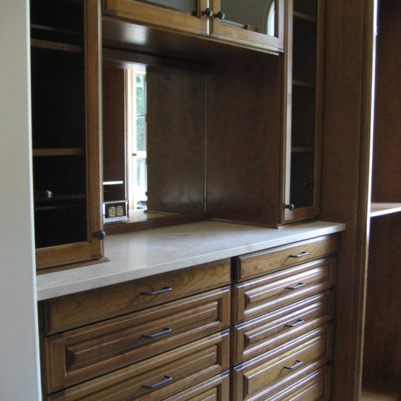 Marble Countertop Governors Club Walk In Closet - The Closet Company