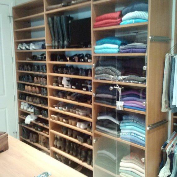 Shelves Anandale Master Bedroom Closet - The Closet Company