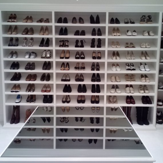 Shoe Shelves Beautiful and Elegant Ladies Dressing Room - The Closet Company