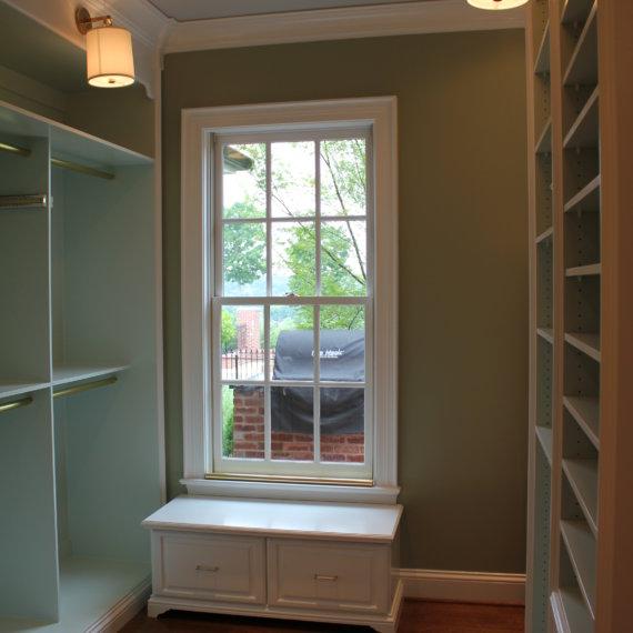 Window Seat Williamson County Dressing Room - The Closet Company