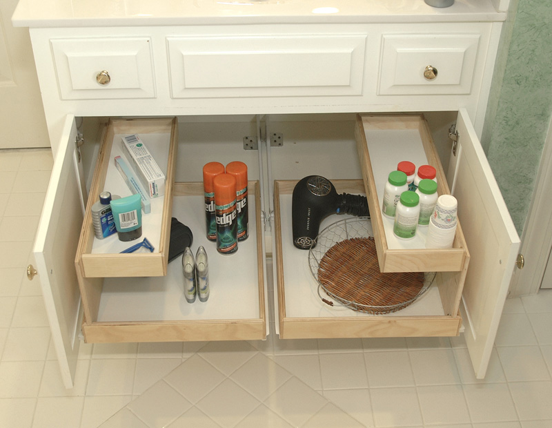 bathroom Pull Out Shelves - The Closet Company