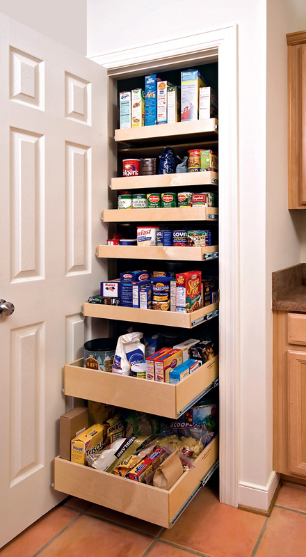 pantry cabinet pull out tray - The Closet Company
